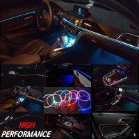 차량용 광섬유 무드등 엠비언트 라이트 신형 EL와이어 LED실내등 RGB타입 or 8가지 색상 12V 전용 제품 ( KC인증)