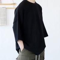 남자 7부 풀사이즈 오버핏 박스 봄 여름 면 반팔 커플티셔츠 [6컬러]