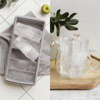 말랑 실리콘 텀블러 아이스 트레이 긴 뚜껑 막대 스틱 큰 얼음 틀 몰드 홈 카페 용품