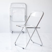 베가 플리아체어 카페 투명 접이식 디자인의자