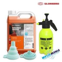 글로스브로 오렌지크러시 4L + 접이식 소분깔대기 / 다목적세정제 대용량 프리워시