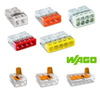 WAGO 꽂음형(단선용) 전선 연결단자 커넥터 전기 전원 원터치 연결 와고