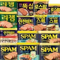 스팸 싱글 클래식 마일드 목우촌 리챔 의성마늘 로스팜 런천미트 캔햄 햄 통조림 10개
