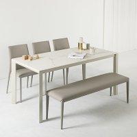 프랑코 에스 12T 통 세라믹(포세린) 테이블 6인용 1600 화이트 식탁 세트