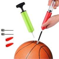 축구공 물놀이 펌프, 농구공 바람넣기 에어펌프 공기주입기 짐볼 휴대용