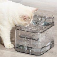 (신형모델) 엔펫 투명 반려동물 저소음 정수기 3L