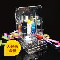 허니샵 풀커버링 더클래식 뚜껑있는 화장품 정리대 보관함 수납함 정리함 진공포장