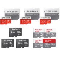 삼성 샌디스크 마이크로 SD카드 외장 메모리칩 블랙박스 8G 16G 32G 64G 128G 256G 핸드폰 갤럭시S10 갤럭시S9 갤럭시S8 유심 다이소