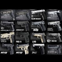성인용비비탄총 비비탄저격총 배틀그라운드 콜트 K5 데저트이글 에어소프트건 18종