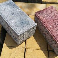 350장 / 7m2 (두께6cm) 200x100 직사각 보도블록 벽돌 인도블럭 보도블럭