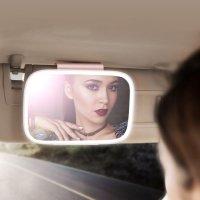 자동차 선바이저 LED 룸미러 차량용 거울 차량용품 메이크업 화장 실내 인테리어 악세사리