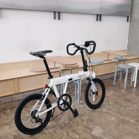 [화이트] 삼천리 펠리치타 FD7 접이식 미니벨로 자전거 스몰박스 폴딩자전거