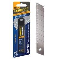 래피드 엣지 서레이션 18mm 커터칼 칼날 10개입 - Rapid Edge 컷터칼 캇타칼