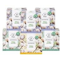(풀싱글 SET)리얼코튼 유기농 생리대 중형 3팩 + 대형 2팩 + 오버나이트 1팩 29데이즈