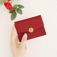 골드브라스 도금 탄생화+행운석 빌리 여성카드지갑 - 4color (선물포장,탄생화선택)