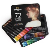 이터널 72색 유성 색연필 틴케이스 전문가용 컬러링북 미술세트 도구 미술용품세트