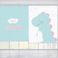 코코룸 헬로다이노 공룡그림 아이방 롤스크린