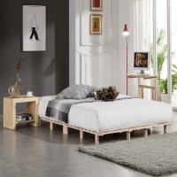 키즈아이랜드 침대 프레임 매트리스 깔판 저상형 패밀리 받침대 미니싱글 60cm원목발통