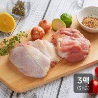 신선하닭 국내산 냉장 생닭다리살 정육 3Kg