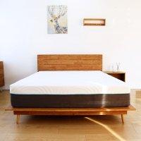브라우니 C형 평상형 원목 침대 프레임 Q/K LK