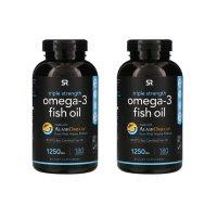 스포츠리서치 오메가3 피쉬오일 1,250 mg 180 소프트젤 2개 세트