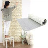 폼블럭 접착식 벽지 포인트 쿠션벽지 인테리어 곰팡이방지 단열 벽돌