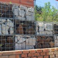[ 1망 ] 개비온 철망 돌망태 현무암 정육면체 게비온 담장 벽돌 자연석
