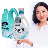 다우니 실내건조 세탁세제 와 섬유유연제 2종믹스팩 _모공브러쉬2종증정