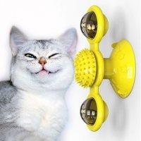 고양이 냥냥펀치 듀얼회전볼 불나오는 소리나오는 행동유발 장난감