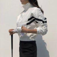 두줄라인 여성골프복 바람막이 점퍼 봄 가을 여성골프패션 상의