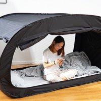 원터치 2층 침대 사각 난방텐트 아기 실내 거실 보온 방한 침대용 텐트