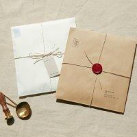 백색/크라프트 노루지 봉투 50g 20매 (고급 유산지 습자지 종이포장봉투)