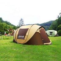 고급형 원터치 방수 텐트 대형 빅 오픈형 팝업 돔텐트 캠핑 낚시 5인 6인용