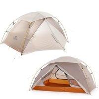 네이처하이크 캠핑 백패킹 트레킹 자전거 자립형 2인용 텐트 초경량 나일론 립스탑 네뷸라2 텐트 20D 전용 그라운드시트 포함 정품