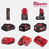 밀워키 배터리 충전기 모음 12V 18V 리튬이온 USB 멀티 급속 차량용 듀얼 대용량