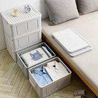 침대밑 수납장 공간박스 폴딩 접이식 플라스틱 수납박스 트렁크 주방 소품 옷 옷장 의류