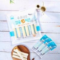 저염 스트링치즈 우유담은 칼슘 유산균 짜지않은 찢어먹는 치즈 스틱 500g 20개입