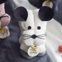 쥐띠 돌답례품 수건 인형 (돌잔치 답례품 마우스 타올 첫돌 소규모)
