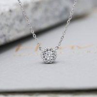 14K 타임리스 인비저블 1부 다이아몬드 목걸이