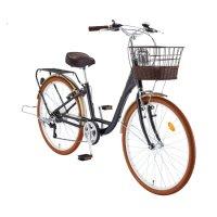2021 26 루시아 7단 - 바구니가 달린 클래식한 디자인의 숙녀용 아줌마 자전거