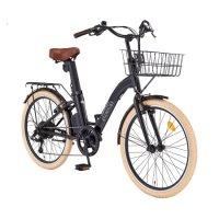 2021 삼천리 24 팬텀 이콘 플러스 - 여성용 바구니 스타일 클래식 빈티지 전기자전거