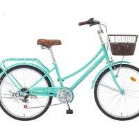 2021 24 클로이 7단 - 운동용 출퇴근 클래식 디자인 여성용 바구니 자전거
