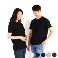 여름 반팔무지티 30수 교복 기본 라운드 100% 면 티 레이어드 검정 이너 티셔츠