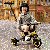 2021 로얄키즈 쓰리인원 접이식 멀티 유아 유모차 세발 자전거 밸런스 바이크