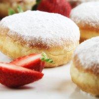 벨리 도너츠 미니사각딸기, 카페빵, 카페디저트납품, 350g(35g x 10개)