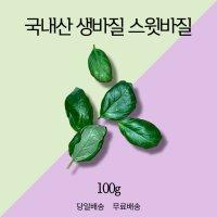당일수확 국내산 생바질 (스윗 바질 생잎) - 100g