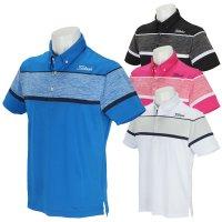 타이틀리스트 스트레치 버튼 다운 반팔 티셔츠 골프웨어 셔츠 TSMC2011