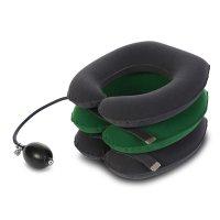 목 재활운동 공기펌프 목디스크 견인기 디스크팡 목보호대 (그린색)