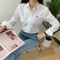 (2컬러)폴로랄프로렌 클래식핏 포플린 셔츠(네이비/화이트)