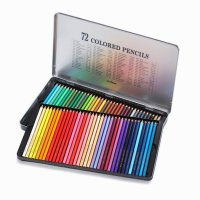 문화 틴케이스 색연필 미술 도구 학용품 문구 72색